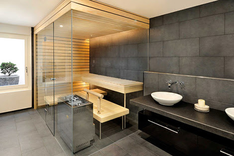 Built-in sauna in your home by Kung Sauna