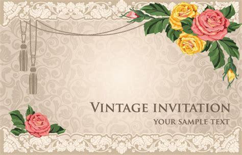 Invitation card design background free vector download