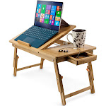 """Aleratec Bamboo Lap Desk/Laptop Stand for Devices Up to 15"""""""