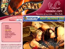 The index page on VersionC.com.