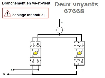 d coration de la maison cablage d un va et vient lumineux. Black Bedroom Furniture Sets. Home Design Ideas