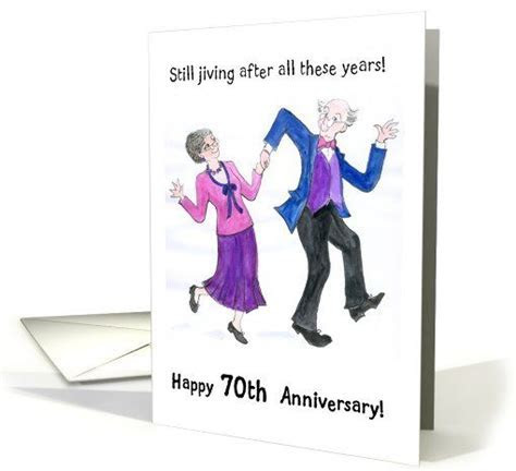 70th Wedding Anniversary Card   Dancing Couple card
