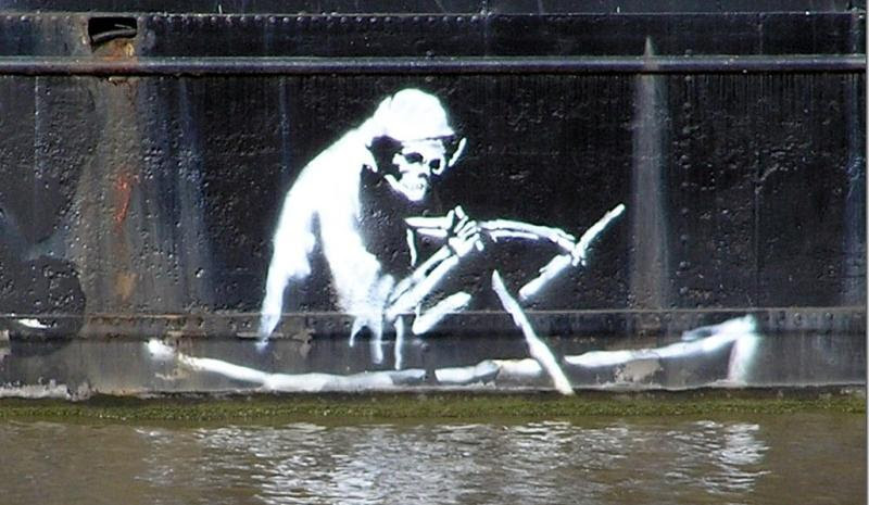 Banksy Death Rowing In The Thames