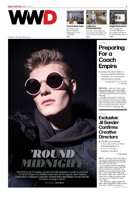 Round About: Sama Eyewear Featured in Women's Wear Daily  👓