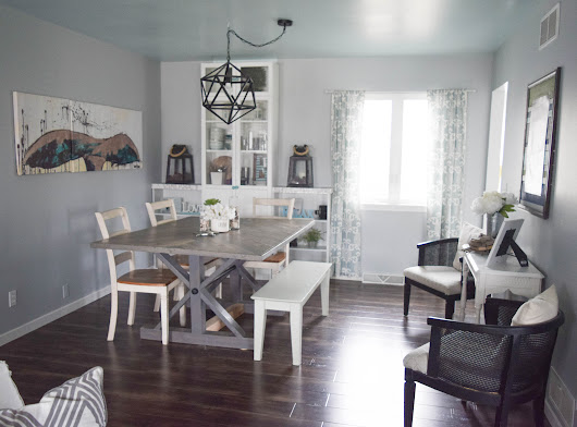 Simple dining room makeover - low cost and easy updates • Our House Now a Home