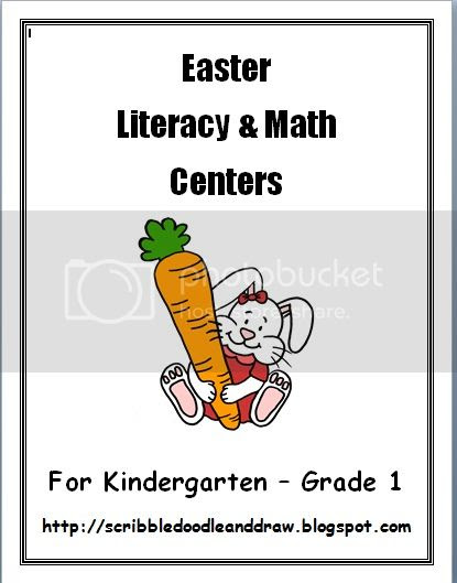 Easter literacy and math centers
