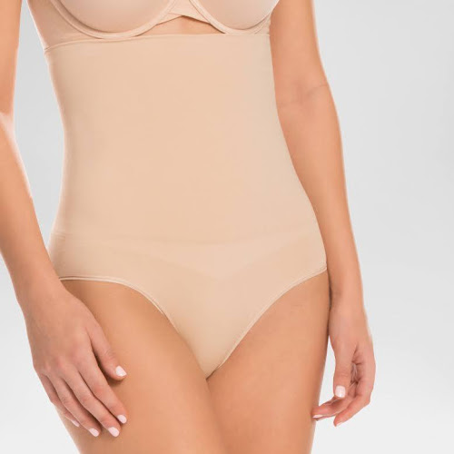 07361fb4cf Assets by Spanx Women s Remarkable Results High Waist Control Brief - Light  Beige L
