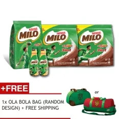 MILO Promotion Bundle- MILO 2kg X 1 MILO 3in1 18's X 2 MILO NutriG 190ml X 2 FOC Delivery & Ola Bola Bag