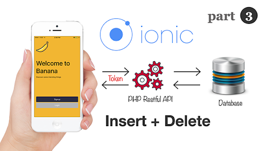 Ionic 3 and Angular 4: Insert and Delete with Token Based Restful API