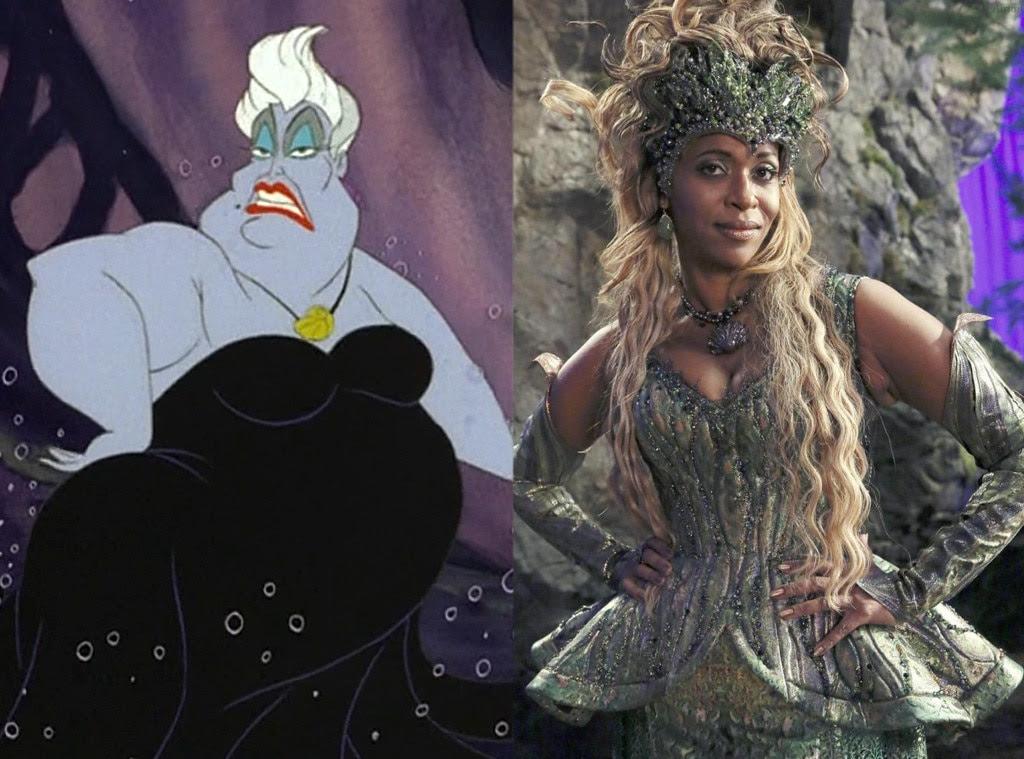 Ursula, The Little Mermaid, Animated Disney vs. Live Action Disney