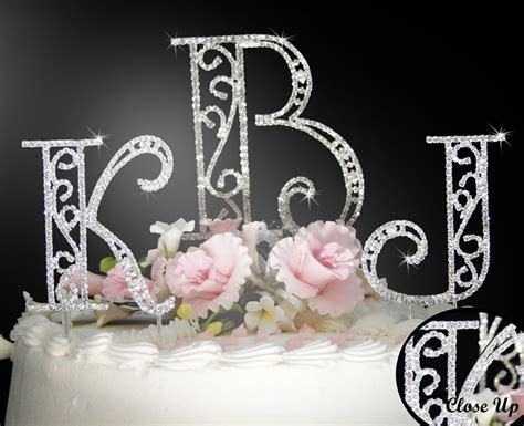 Discount Bridal Prices: Monogram Cake Toppers   Wedding