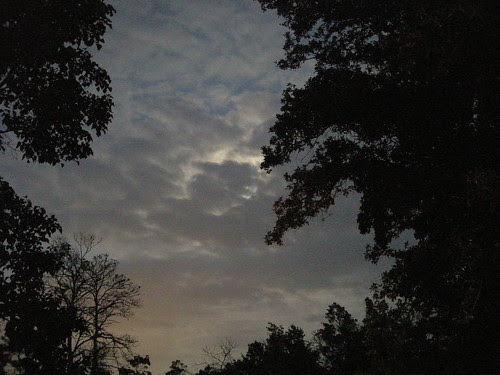 Moon hidden by clouds 2 by greenelfmom.