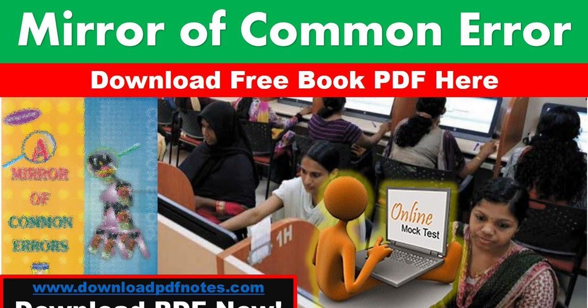 a mirror of common error 5 edition pdf download
