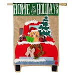 Evergreen Flag Home for The Holidays Flag House