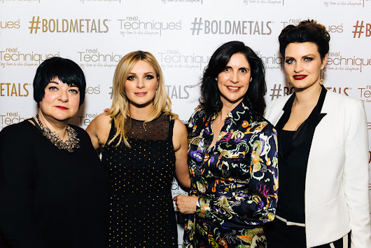At the UK launch party for Bold Metals Collection from Real Techniques