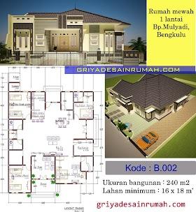 Sketsa Rumah Mewah 1 Lantai