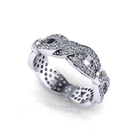 Woven Diamond Wedding Ring   Jewelry Designs