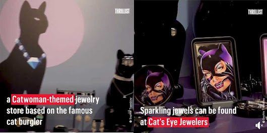 #CoughDidItFirst THEME PARK EDITION – The Catworthy jewelers is now a thing. WB themepark has a jewelry store based on Catwoman