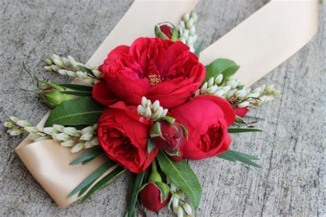 Modern wrist corsages for weddings and special occasions
