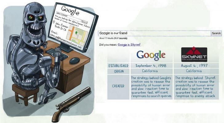 Resultado de imagem para Google para inteligência artificial SKYNET