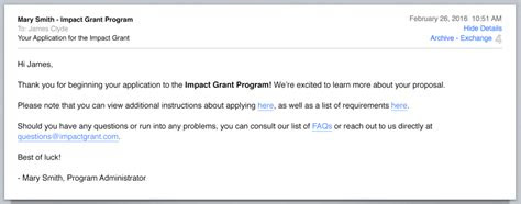 emails    sending   applicants