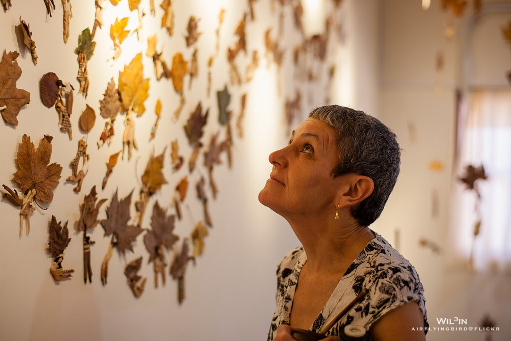 Irma Pellegrini with her artwork @ Taipei