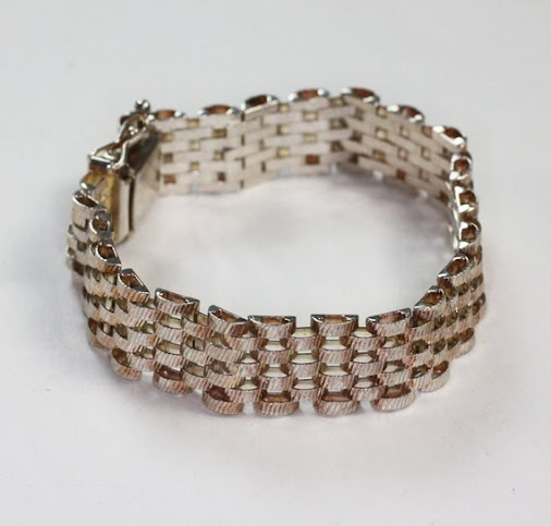 #vintagejewelry #bracelet #sterling #italian #pantherlink