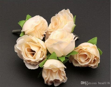 Online Cheap Hot ! Beige Color Tea Rose Flower Head