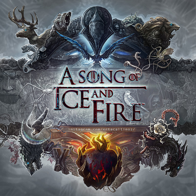 Brilliant A Song of Ice and Fire Logo Design by Ertacaltinoz
