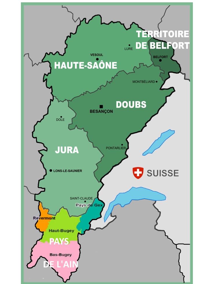 Le Jura Carte | Carte