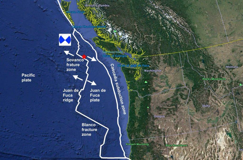 ισχυρές σεισμούς vancouver νησί bc canada, σειρά ισχυρών σεισμών vancouver νησί
