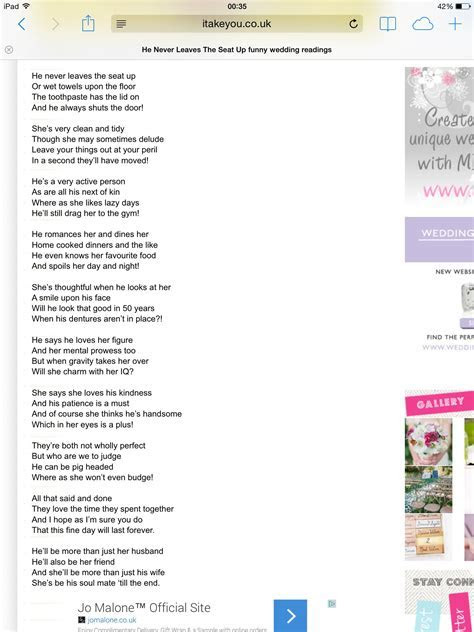 British poet, Pam Ayres, wrote this very funny poem. She