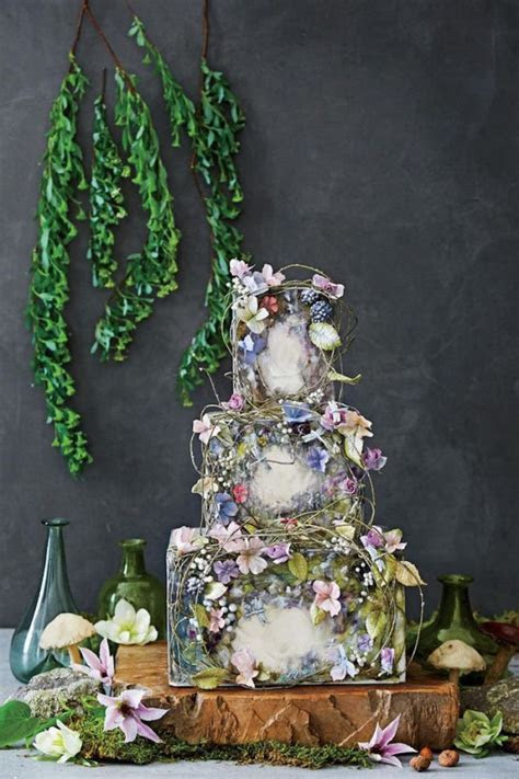 Nature Inspired Wedding Cakes   WeddingElation