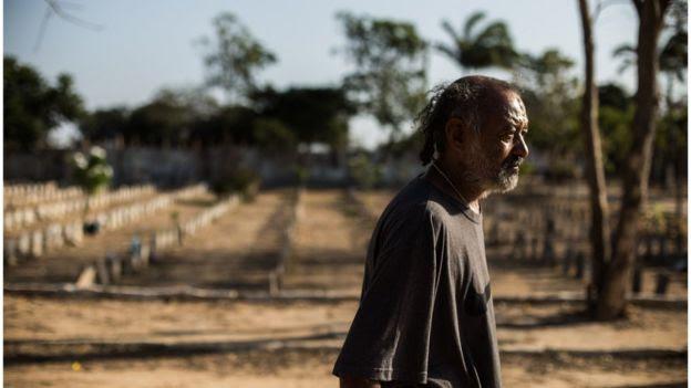 Claudio Oliveira, morador de rua