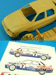 Maqueta de coche 1/24 Renaissance Models - Ford Sierra Cosworth 4x4 Grupo A Mobil Carglass Nº 2, 6 - Delecour + Grataloup, Biasion + Siviero - Tour de Corse 1992 - kit multimaterial