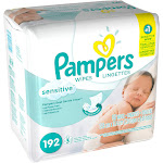 Pampers 3X Sensitive Baby Wipes Refill - 192 count