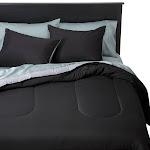 Reversible Microfiber Comforter - Room Essentials , Size: King, Black&Gray