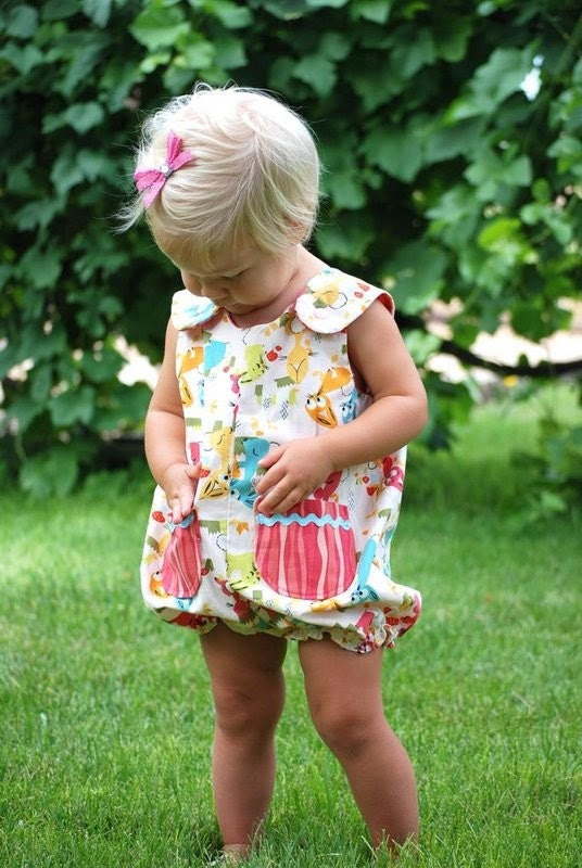 Meadow Sweet Strawberries Bubble Romper Size 18 months  2-3
