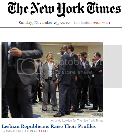 Headline: 'Lesbian Republicans Raise Their Profile'