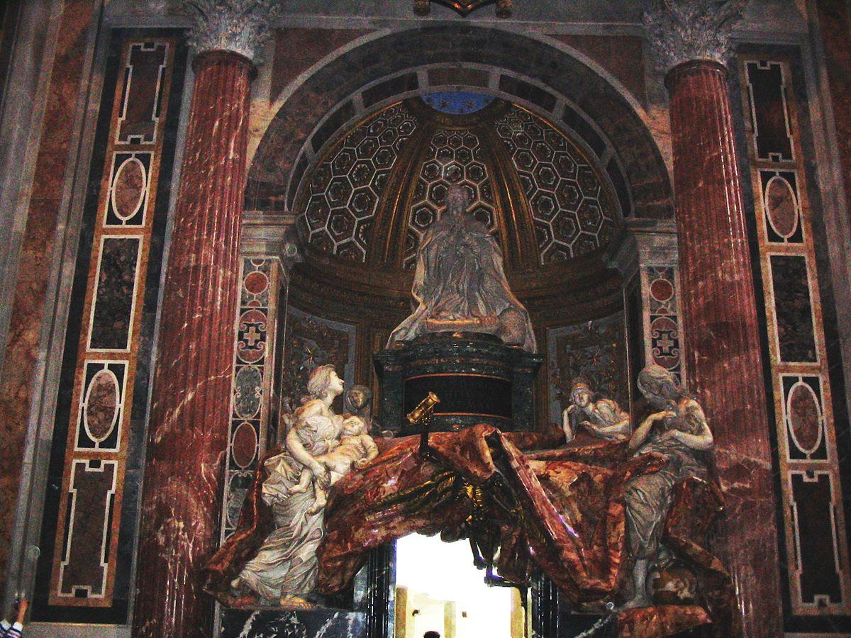 File:Monumento en memoria a Alejandro VII, Basílica de San Pedro.JPG