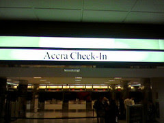Accra check-in