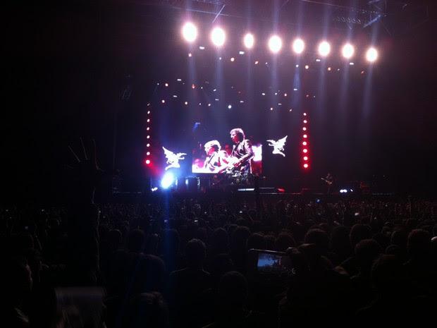Começa show do Black Sabbath. (Foto: Daniel Bittencourt/G1)