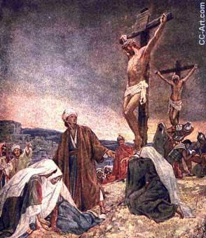 Jesús es crucificado