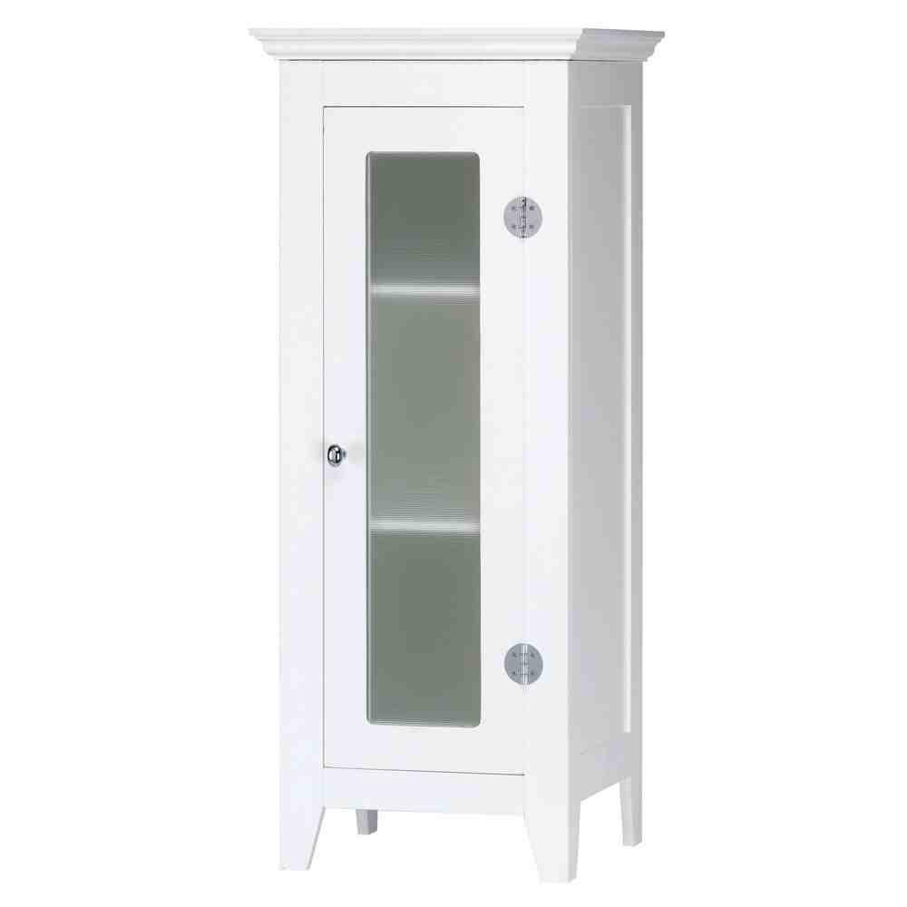 Small White Bathroom Floor Cabinet - Home Furniture Design