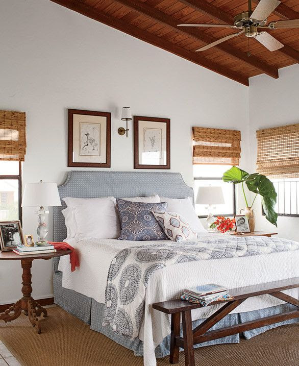 tropical cottage ~ master bedroom