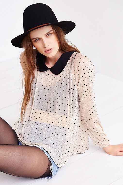 Cooperative Polka Dot Mesh Top