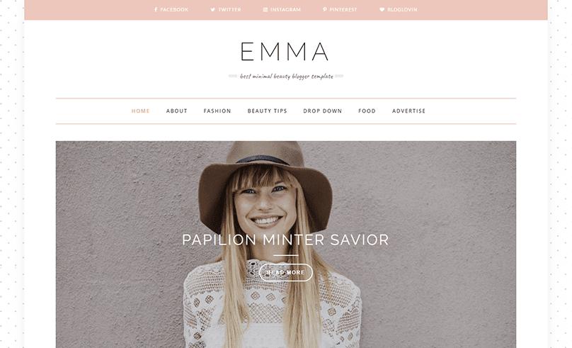 Demonstração Theme Emma Responsivo Clean Blogspot 2018