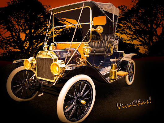 1912 Ford Roadster Candy Shop Window by Chas Sinklier
