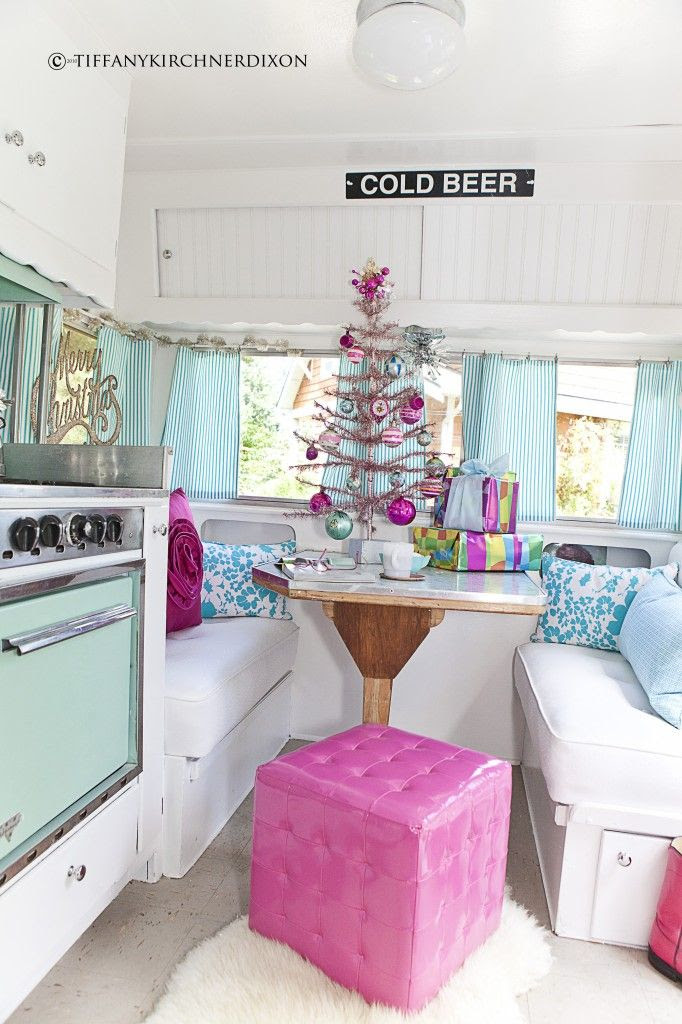 the fancy farmgirl vintage christmas trailer