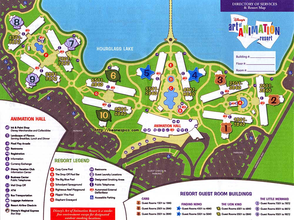 Disney\'s Art Of Animation Resort - Art Of Animation Resort Map